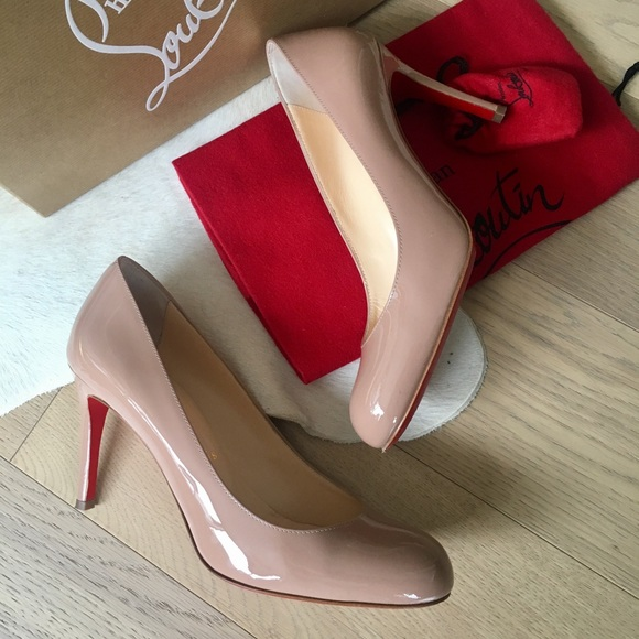 23ee151ef29 Christian Louboutin Fifi 85mm Nude Patent Pumps
